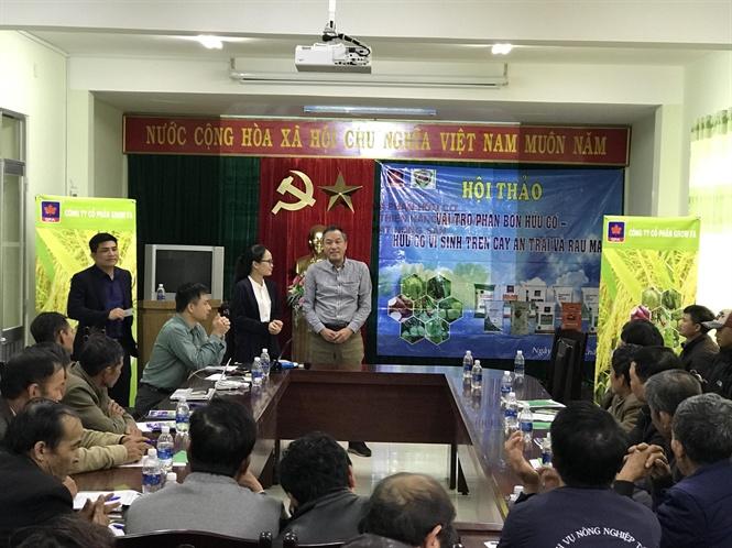 Ông Fukuhara Tamotsu Giám đốc bán hàng của Công ty Kume Nhật Bản phát biểu hội thảo  Đà Lạt - Lâm Đồng
