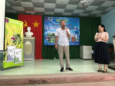 Ông Fukuhara Tamotsu Giám đốc bán hàng của Công ty Kume Nhật Bản phát biểu hội thảo Sóc Trăng